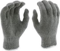 West Chester 712SG Heavy Weight String Knit Gloves [Gray] - [Pack of 12 Pairs] 9.5 in. Length, 4 in. Width 7 Cut Poly Cotton Safety Gloves