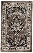 Superior Elegant Glendale Collection Area Rug, 8mm Pile Height with Jute Backing, Traditional Oriental Rug Design, Anti-Static, Water-Repellent Rugs - Brown, 5' x 8' Rug