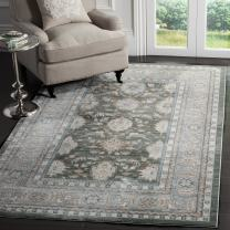 Safavieh Valencia Collection VAL112B Alpine and Mauve Vintage Distressed Silky Polyester Area Rug (4' x 6')