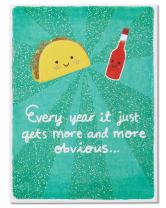 American Greetings Funny Anniversary Cards for Couple (Taco and Hot Sauce)