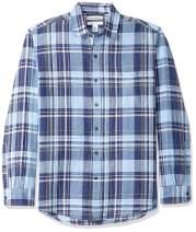 Amazon Essentials Men's Regular-Fit Long-Sleeve Linen Cotton Shirt
