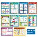 """Geometry and Measures Posters - Set of 13 