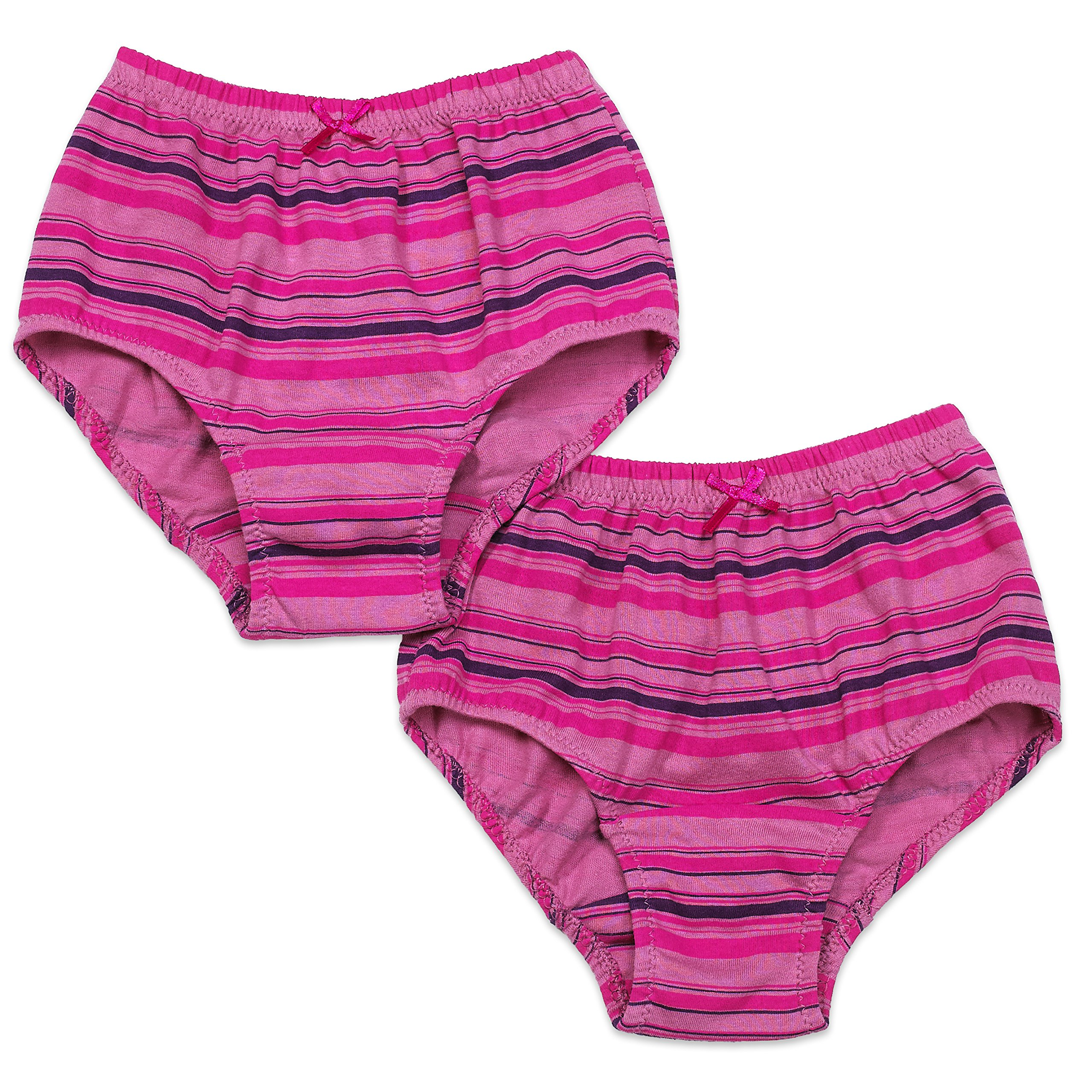 Key Chain Girl's Underwear (2 Per Pack) - Briefs Cut Panties with Tagless Waistband