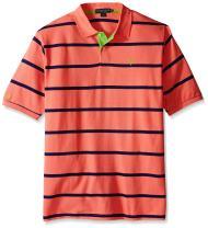 U.S. Polo Assn. Men's Big & Tall Striped Pique Polo Shirt