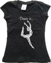 Youth Dance Clothing - Dance is.(Love, Emtion, Graceful.) - Girls Glitter Tshirt