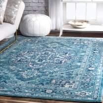 """nuLOOM Vonda Fancy Persian Area Rug, 6' 7"""" x 9', Aqua"""