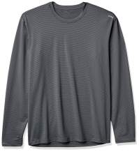 A4 Long-Sleeve Microstripe Workout Shirt
