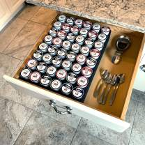 Polar Whale Coffee Pod Storage Organizer Tray Drawer Insert for Kitchen Home Office Waterproof Washable 12.6 X 17.9 Inches Holds 48 Compatible with Keurig K-Cup