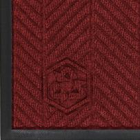 "M+A Matting 2240 Waterhog Eco Elite PET Polyester Fiber Indoor/Outdoor Floor Mat, SBR Rubber Backing, 10' Length x 3' Width, 3/8"" Thick, Red"