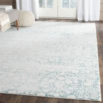 "Safavieh Passion Collection PAS403B Vintage Medallion Watercolor Turquoise and Ivory Distressed Area Rug (5'1"" x 7'7"")"
