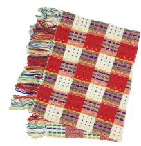 Wolala Home 100% Cotton Hand Woven Tassels Rug Red Plaid Rug Runner for Entryway Kitchen 2x6 Feet Machine Washable Rug Pad