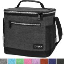 OPUX Insulated Large Lunch Bag, Men Women | Meal Prep Lunch Box for Adult, Kids | Soft Leakproof Lunch Pail Cooler Bag with Shoulder Strap for Work, School, Beach | Fits 18 Cans (Charcoal)