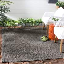 """Safavieh Courtyard Collection CY8521 Indoor/ Outdoor Non-Shedding Stain Resistant Patio Backyard Area Rug, 5'3"""" x 7'7"""", Black / Beige"""