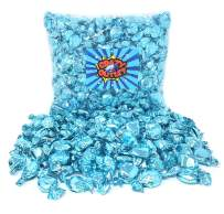 CrazyOutlet Pack - Light Blue Foil Candy Buttons, Blue Raspberry Flavor Hard Candies, It's a Boy Party Candy, Individually Wrapped, 2 lbs