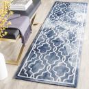 "Safavieh Dip Dye Collection DDY539N Handmade Geometric Moroccan Watercolor Navy and Ivory Wool Runner (2'3"" x 6')"