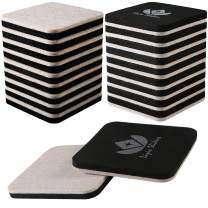 Liyic 20 Pack 3in.Square Felt Sliders for Hard Surfaces-Felt Furniture Sliders - Heavy Duty Sliders – Reusable Hardwood Floor Sliders -Furniture Moving Sliders-Sofa Sliders Gliders Glides Movers
