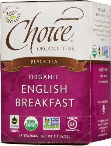 Choice Organic Teas Black Tea, 16 Tea Bags, English Breakfast
