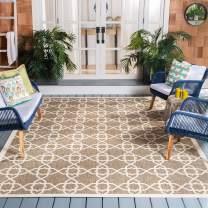 Safavieh Courtyard Collection CY6032-242 Brown and Beige Indoor/ Outdoor Area Rug (9' x 12')