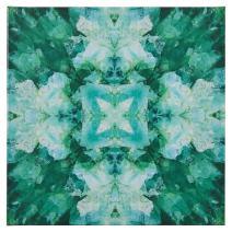 "Rivet Turquoise Blue Crystal Kaleidoscope Canvas Print Wall Art, 20"" x 20"""