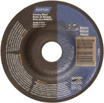 "Norton Metal Depressed Center Abrasive Wheel, Type 27, Aluminum Oxide, 7/8"" Arbor, 7"" Diameter x 1/8"" Thickness (Pack of 5)"