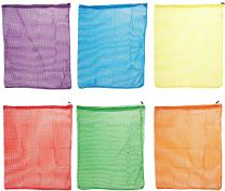 Sportime Heavy Duty Mesh Storage Bag - 24 x 30 inches - Set of 6 - Assorted Colors