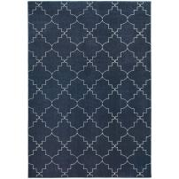"""Oriental Weavers Ellerson 3'10"""" x 5'5"""" Machine Woven Rug in Gray"""