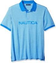 Nautica Men's Big and Tall Short Sleeve Solid Logo Polo Shirt