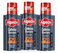 Alpecin C1, Caffeine Shampoo, 8.45 fl oz (Pack of 3) Caffeine Shampoo Cleanses the Scalp to Promote Natural Hair Growth, Leaves Hair Feeling Thicker and Stronger