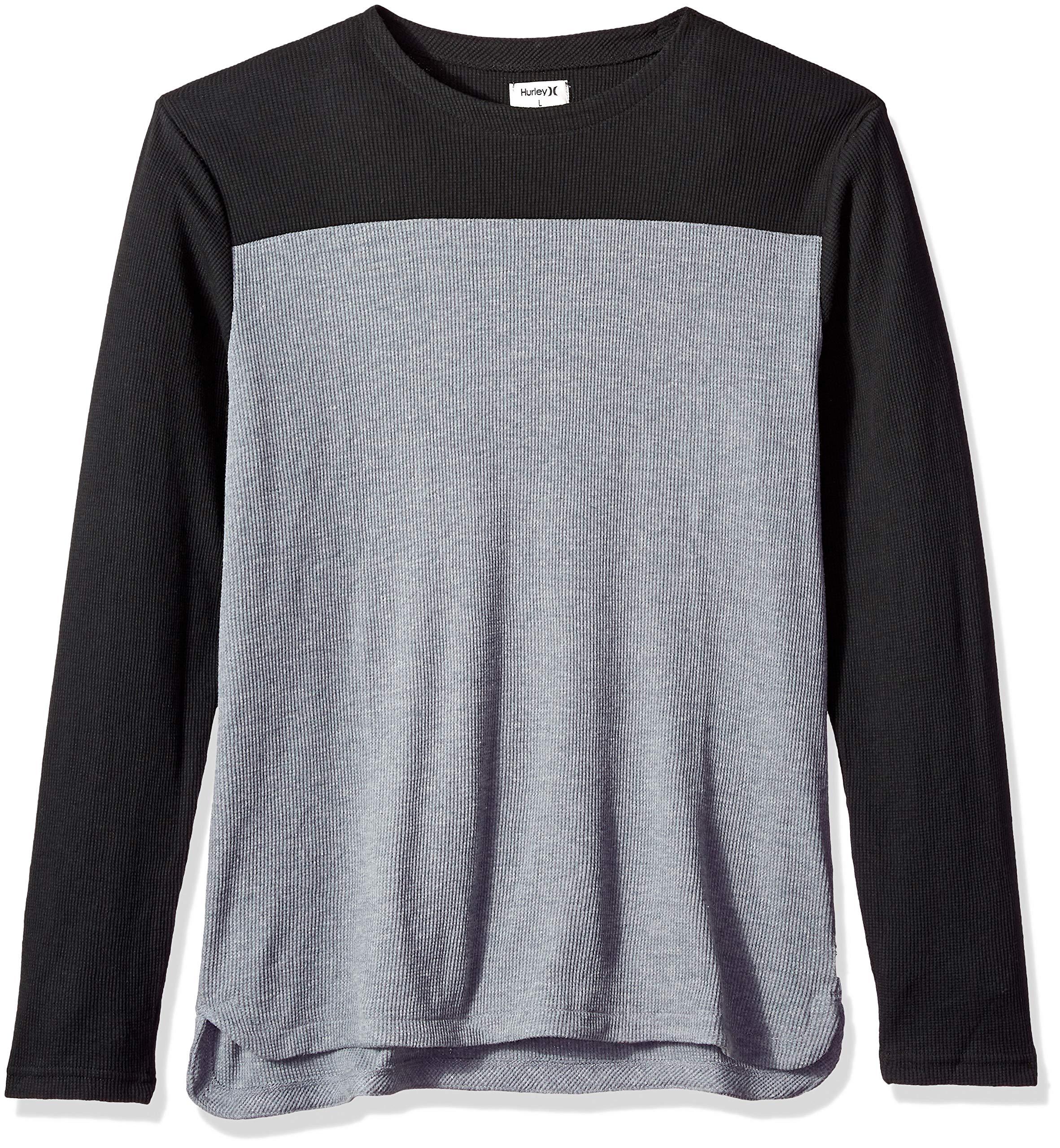 Hurley Men's Color Blocked Thermal Long Sleeve Tshirt