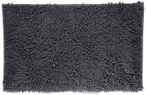 "VDOMUS Soft Microfiber Shag Bath Rug, Extra Absorbent and Comfortable, Anti-slip,Machine-Washable Large Bathroom Mat, 32"" x 20"", Grey"