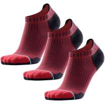 Compression Running Socks Anti-Blister No Show Low Cut Merino Wool Athletic for Men and Women