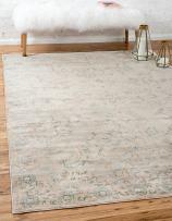 Unique Loom Paris Collection Pastel Tones Traditional Distressed Gray Area Rug (12' 2 x 16' 0)