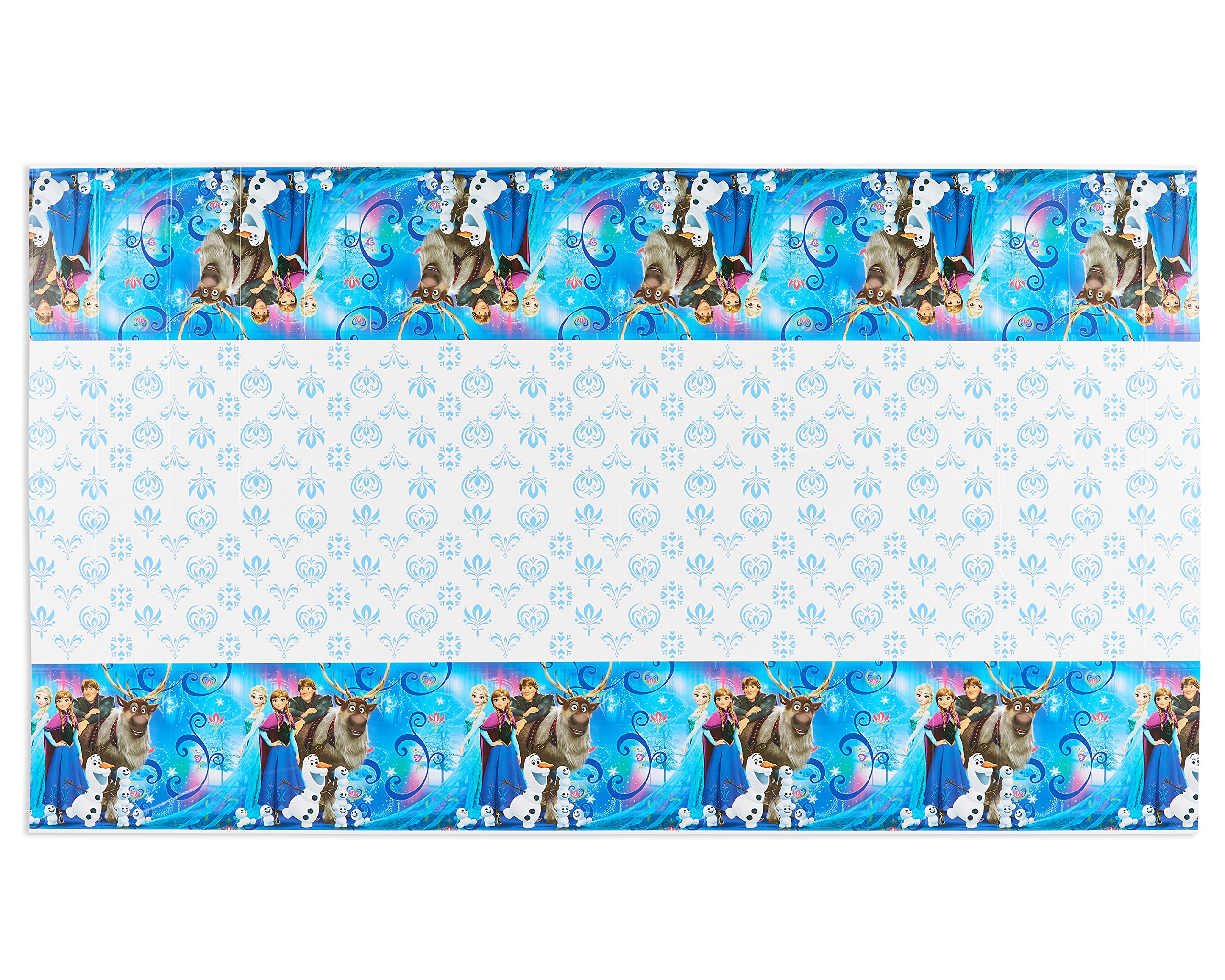 """American Greetings Frozen Magic Plastic Table Cover, 54"""" x 96"""""""