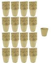 """Set of 128 Med Biodegradable Eco Friendly Peat Pots! 3""""- 12 Pot Tray - Recycled Non Bleached Peat Pots Perfect for Seed Germination! No Transplanting Required - No More Damaged Roots!"""