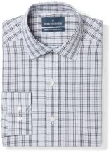 Amazon Brand - BUTTONED DOWN Men's Tailored Fit Plaid Dress Shirt, Supima Cotton Non-Iron
