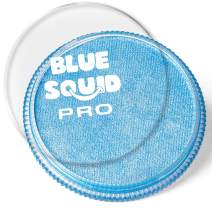 Blue Squid PRO Face Paint - Metallic Blue (30gm) Superior Quality Professional Water Based Single Cake, Face & Body Makeup Supplies for Adults, Kids & SFX