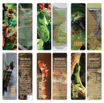 Creanoso Exotic Reptile Bookmarker Cards (30-Pack) – Stocking Stuffers Gift for Men, Women, Adult, Teens, Boys & Girls – Party Favors Supplies – Employee Reward Incentives – Book Mark Clippers