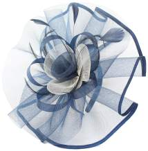 Fascinators Hats for Women Big Mesh Flower on a Hairband Tea Party Hat for Girls…