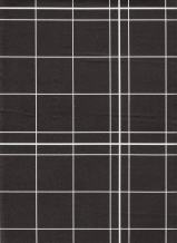 Broder Manufacturing Inc White Lines Flannelback Vinyl Tablecloth in Black, 52x90 Oblong (Rectangle)