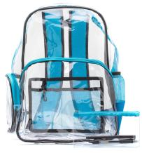 Heavy Duty Clear Backpack, Quality Transparent, See-Through Bag, Large
