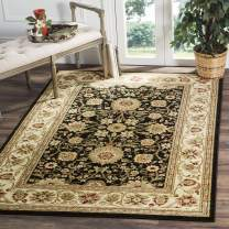 Safavieh Lyndhurst Collection LNH212A Traditional Oriental Non-Shedding Stain Resistant Living Room Bedroom Area Rug, 4' x 6', Black / Ivory
