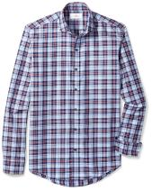 Amazon Brand - BUTTONED DOWN Men's Slim Fit Cutaway-Collar Supima Cotton Dress Casual Shirt