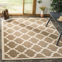"""Safavieh Courtyard Collection CY6903-242 Brown and Bone Indoor/ Outdoor Area Rug (5'3"""" x 7'7"""")"""