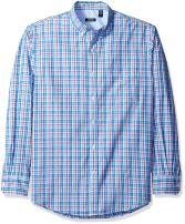 IZOD Men's Breeze Long Sleeve Button Down Plaid Shirt
