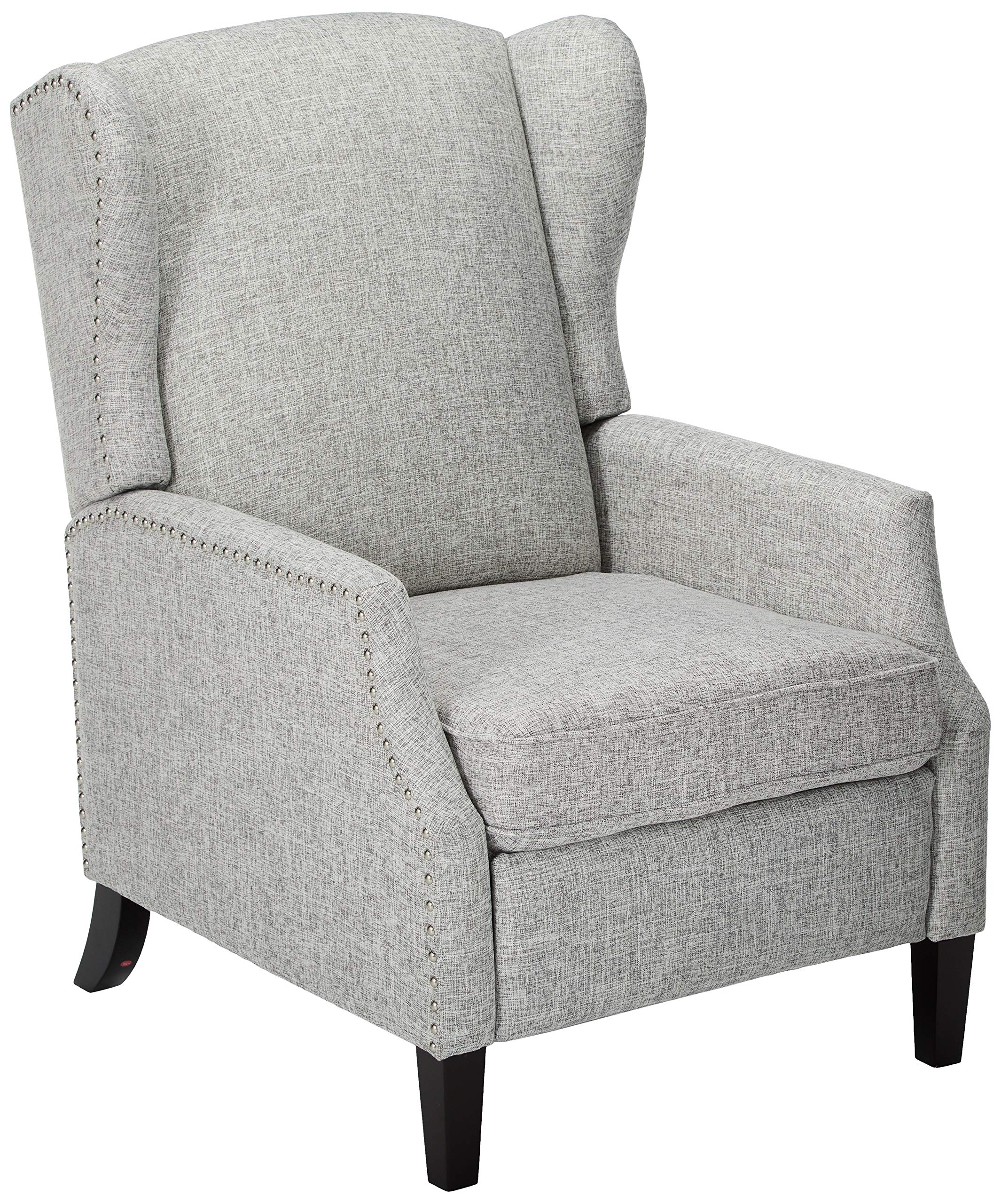Christopher Knight Home Wescott Traditional Fabric Recliner, Light Grey Tweed