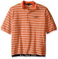 U.S. Polo Assn. Men's Big-Tall Embellished Pencil Stripe Polo Shirt