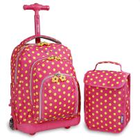 J WORLD NEW YORK Lollipop Kids Rolling Backpack, STRAWBERRY, One size