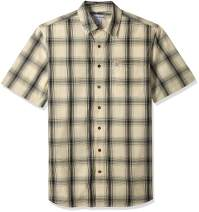 Carhartt Men's Big and Tall Big & Tall Essential Plaid Open Collar Short Sleeve Shirt