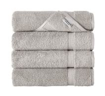 SALBAKOS Luxury Bath Towels - 4-Piece Large Stone Bathroom Hotel Towel Set, Softest 700 GSM Genuine Turkish Cotton Eco-Friendly Bath Towel Set, 27x54 Inches