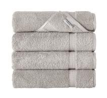 SALBAKOS Luxury Bath Towels -4-Piece Large Stone Bathroom Hotel Towel Set, Softest 700 GSM Genuine Turkish Cotton Eco-Friendly Bath Towel Set, 27x54 Inches